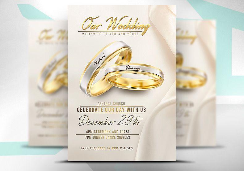 Wedding flyer psd template pinterest psd templates wedding flyer psd template saigontimesfo