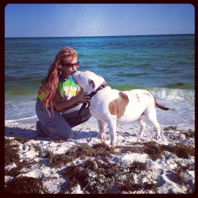 At the beach....