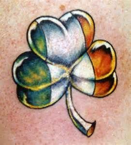 Irish Flag Shamrock Tattoo Bing Images Clover Tattoos Shamrock Tattoos Irish Flag Tattoo