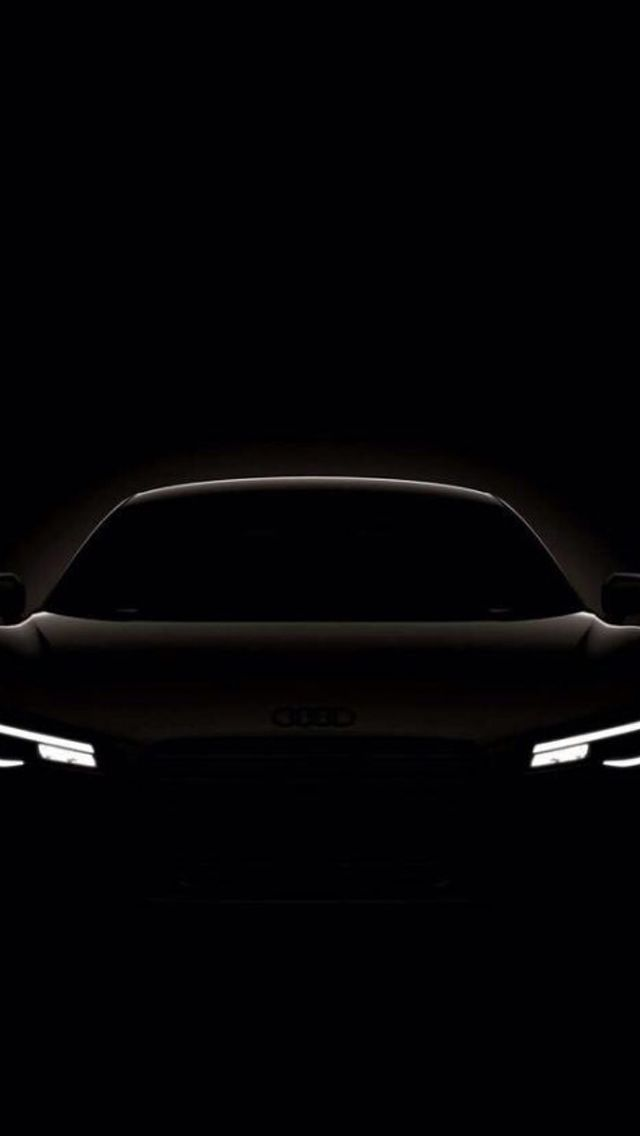 Dark Shiny Audi Concept Car Outline Iphone 5s Wallpaper Iphone