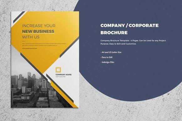 CorporateCompany Brochure Page By Nashoaib On Creativemarket - 4 page brochure template