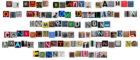 Cool Site: Ransom Note Generator | Design/Typography | House letters