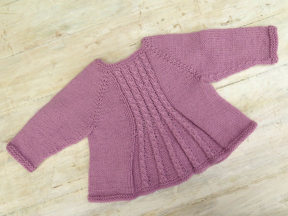 ad098d1e891e Download Billy s Girl Flared Cardigan Knitting Pattern - Knitting Patterns  immediately at Makerist