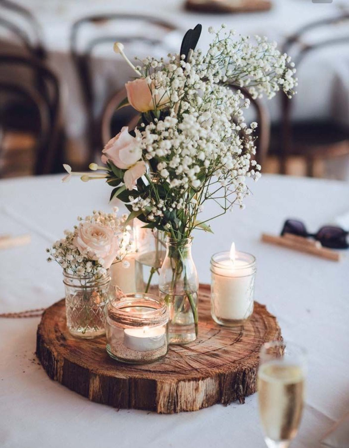 Wedding decoration ideas peach  yep with a lantern and a pic of us  Floral arrangements u Table