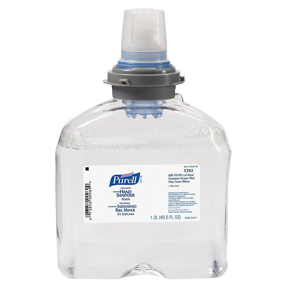 Purell Tfx Instant Hand Sanitizer Refill 40 5 Oz 1200ml Carton