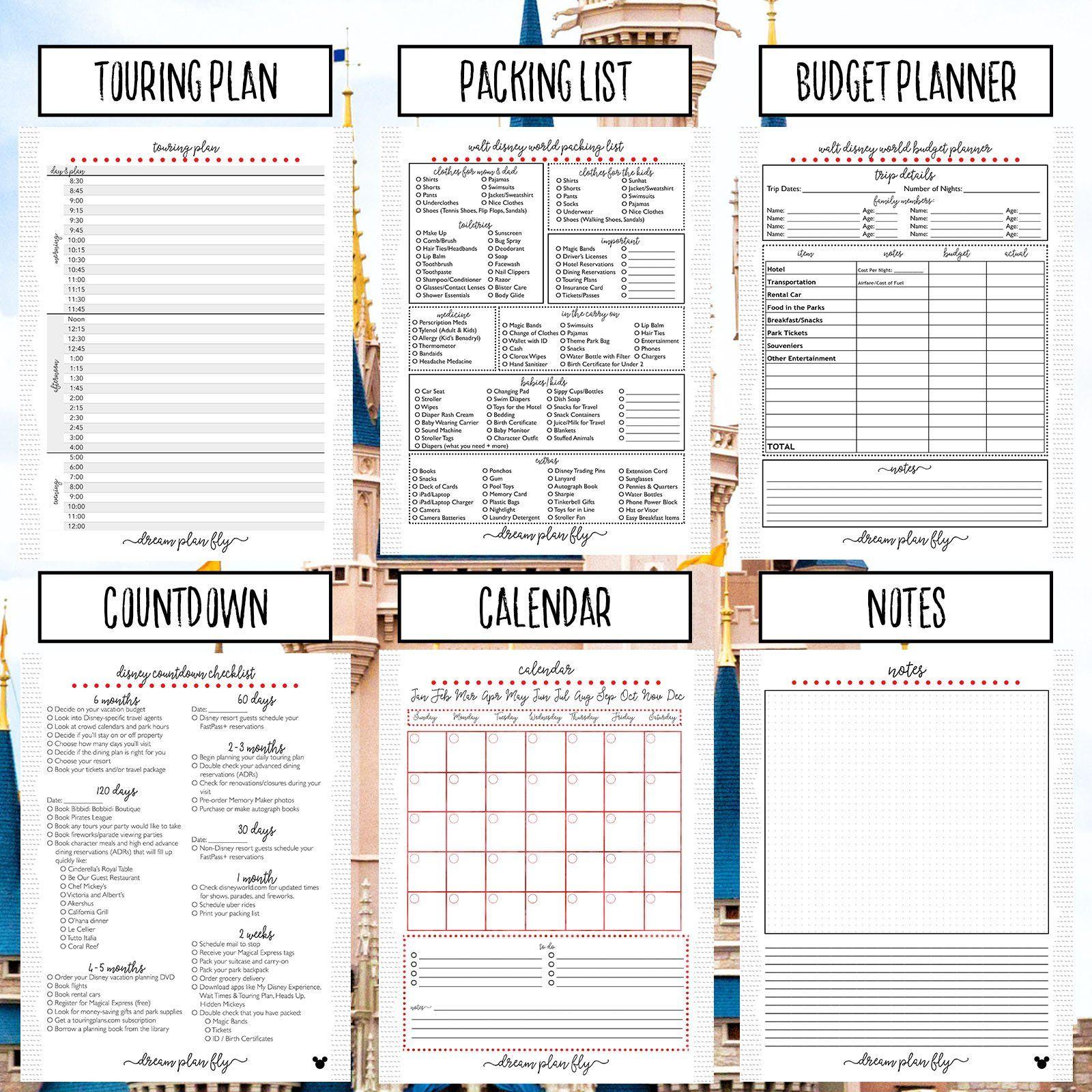 Ultimate Walt Disney World Planner Create Your Own Editable