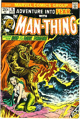 Adventure Into Fear With The Man-Thing #15 Cover Art by Frank Brunner