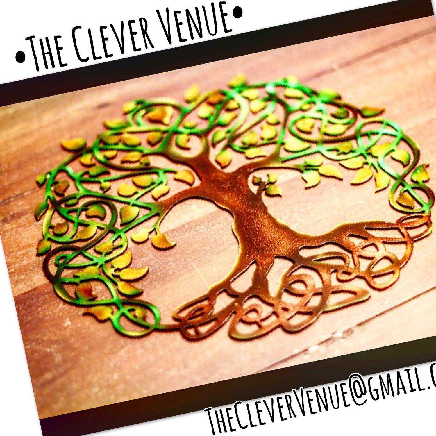 Exelent Tree Of Life Metal Wall Decor Embellishment - Wall Art ...