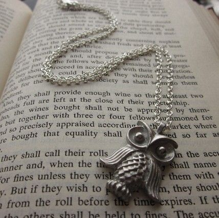 Because pewter owl jewelry makes my heart go pitter-pat.   etsy.com, seller: SeizeTheNight.