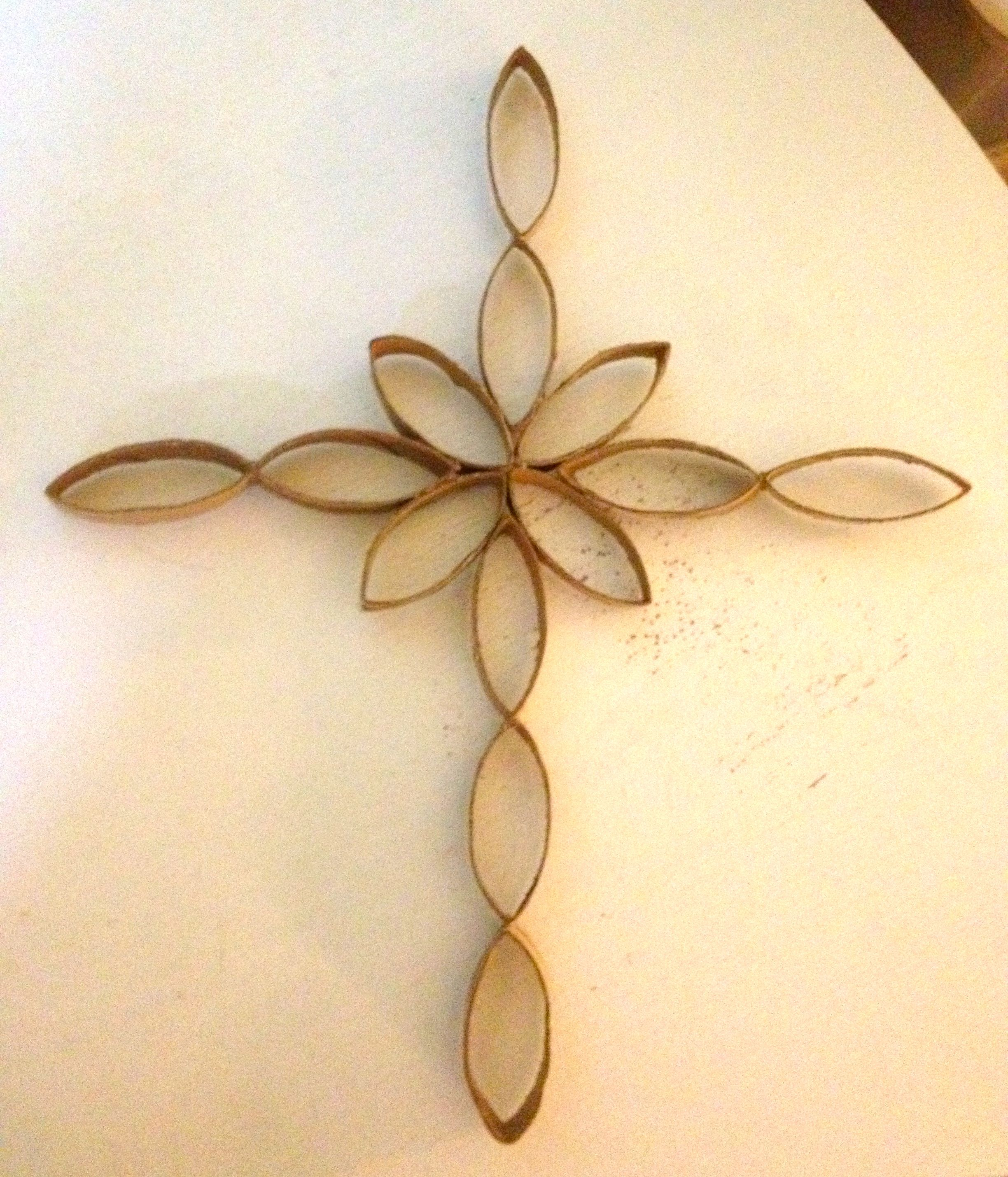 Toilet Paper Roll Art Wall Art Cross Made Out Of Toilet Paper Rolls1 Crafts On