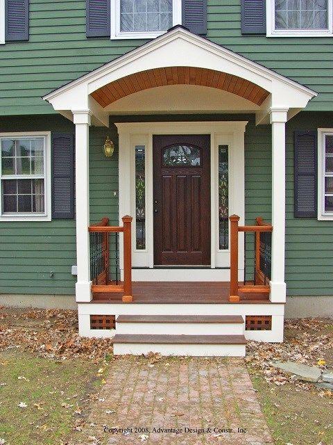 Simple Portico Designs Google Search Small Front Porches