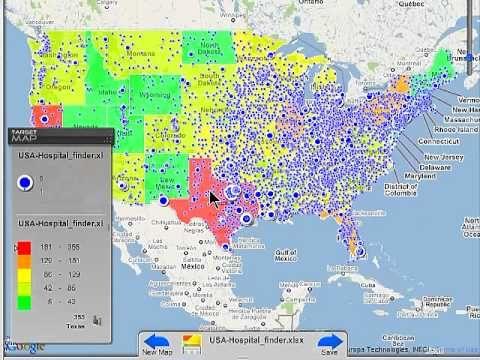 TargetMap Create share customized data maps on OpenStreetMap