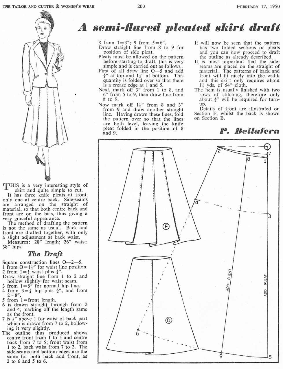 Pleated Skirt Pattern Think how the skirt would | Crafts - Sewing ...