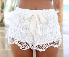 Lace shorts - image #1855675 by Maria_D on Favim.com