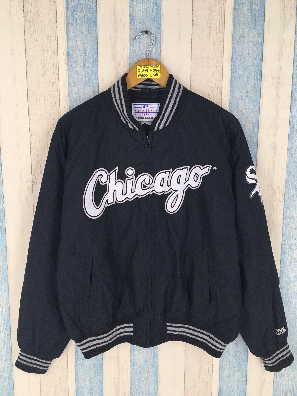Chicago White Sox Jacket Large Black Vintage 1980 S Mlb Major League Baseball Varsity White Sox Sportswea Stylish Jackets Jean Jacket Hoodie Vintage Sportswear [ 3000 x 2250 Pixel ]