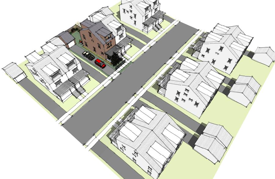 1204 Rohouse Design In Twin Home Development Pattern