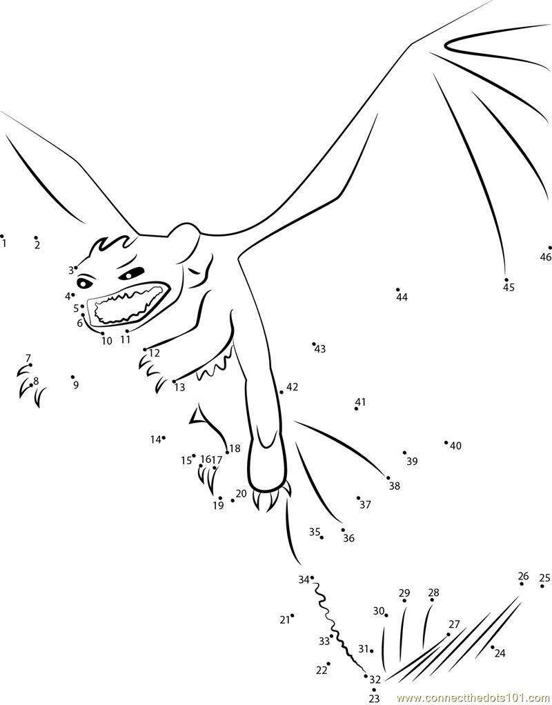 How To Train Your Dragon Toothless Angry Dot To Dot Printable Worksheet Connect The Dots How Train Your Dragon How To Train Your Dragon Toothless Dragon