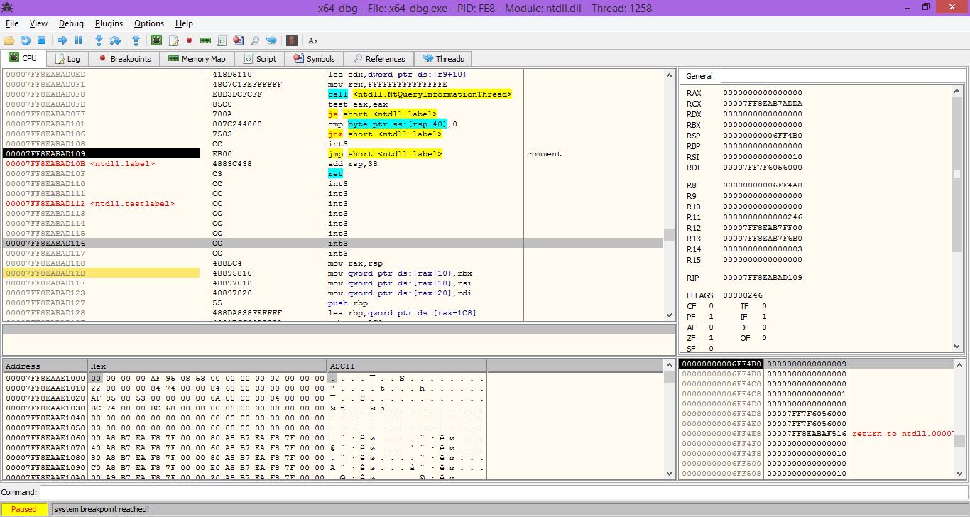 x64dbg 2016-11-08_09-46 An open-source x64/x32 debugger for windows ...