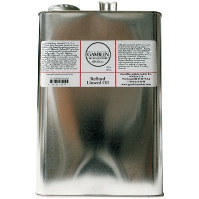 Gamblin Refined Linseed Oil Size: 128 oz