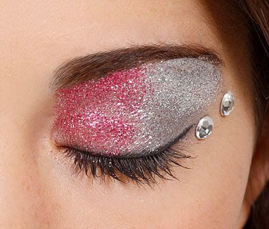 GET THE LOOK   PRETTY IN PINK    To get this look, you'll need Glitterbug Skin and Eye Glue, Glitterbug Make Up Brush Kit, Silver Glitter Dust, Pink Glitter Dust, and the Silver Rhinestones Pack.