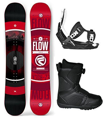 Flow 2018 Vert WIDE Mens Complete Snowboard Package Flow
