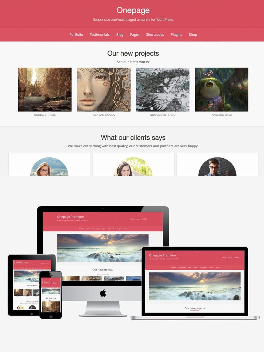 Onepage Premium In 2020 Web Graphic Design Web Themes Sticky Menu