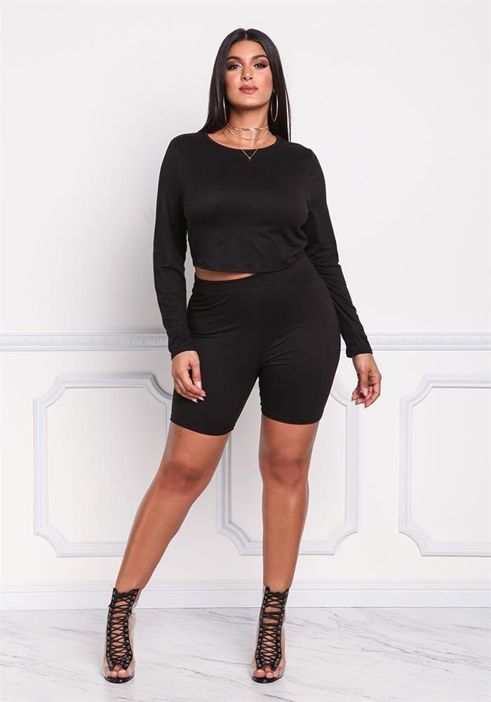 Plus Size Clothing Plus Size Long Biker Shorts Debshops