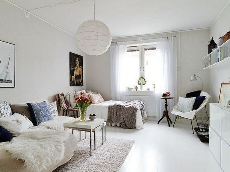 10 Inspiring Ideas Of Minimalist And Simple One Room Apartment Page 9 Of 14 One Room Flat Small Living Rooms One Room Apartment