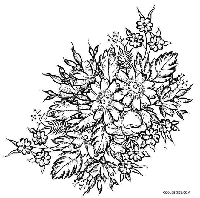 Free Printable Flower Coloring Pages For Kids in 2020 ...