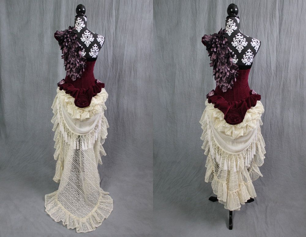 ONE OF A KIND Upcycled Boho Burlesque Steampunk Bustle