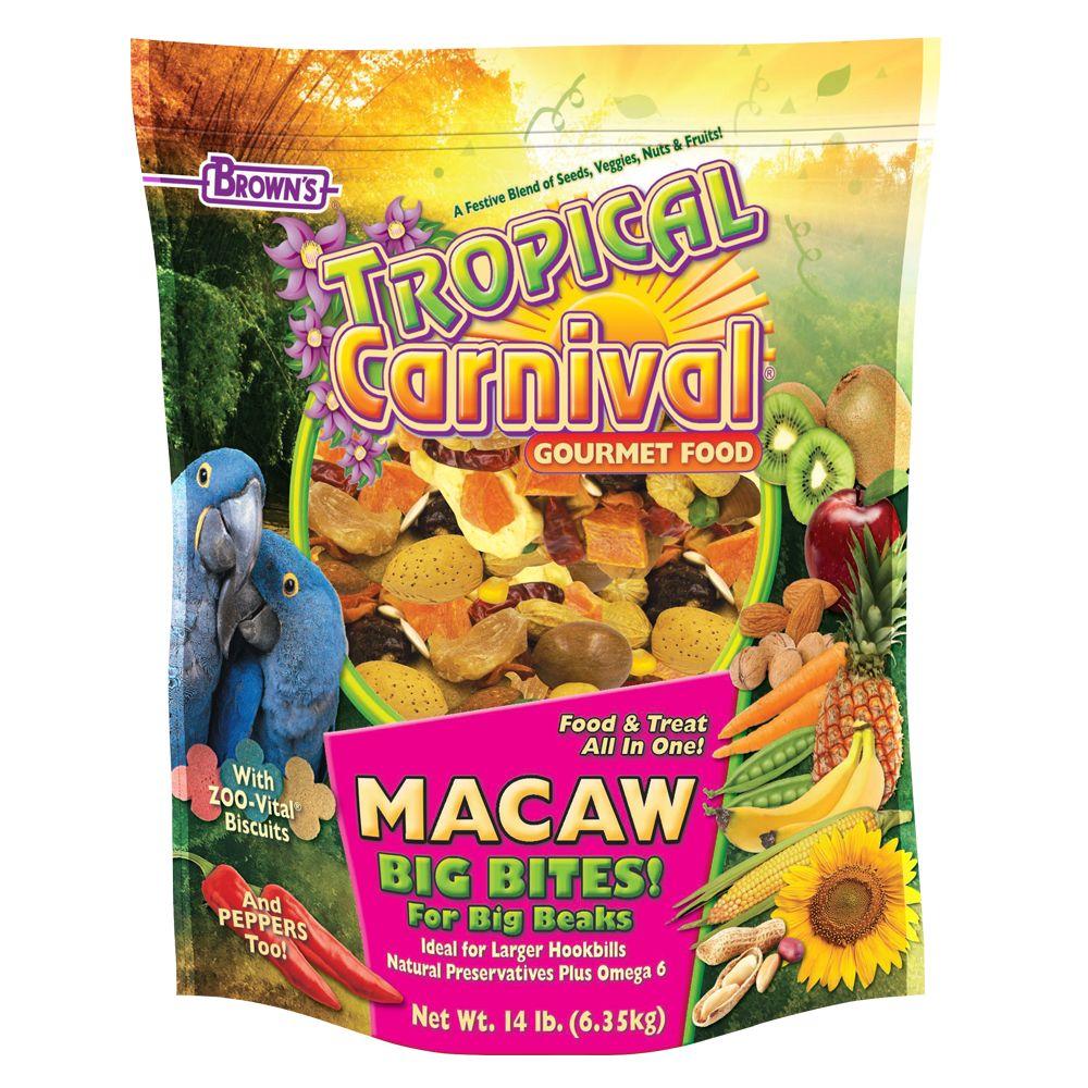 Brown's® Tropical Carnival® Gourmet Big Bites Macaw Food