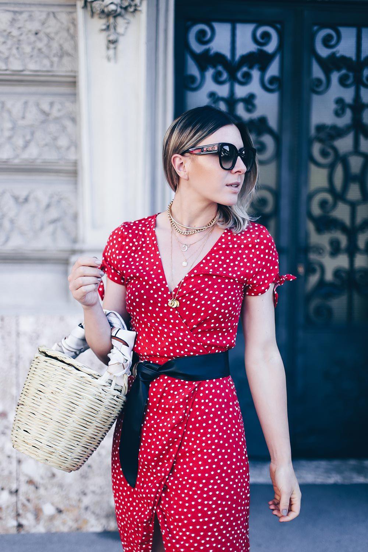 musthave kleid im sommer das wickelkleid mit print  looks