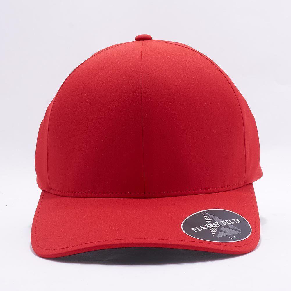 2ffd58c933a Wholesale Flexfit Yupoong 180 Flexfit Delta Hat  Red