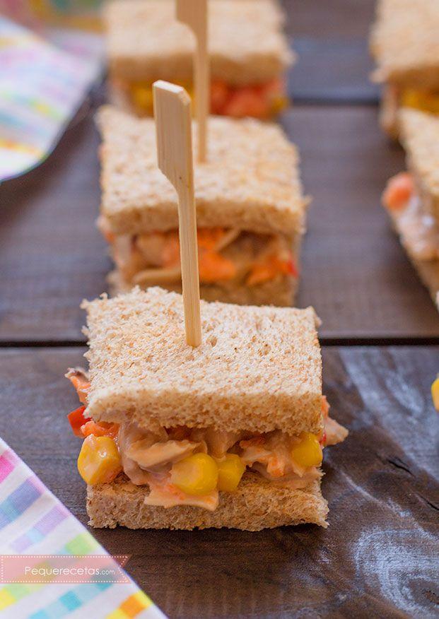 Mini s ndwich de pollo una cena r pida recetas en espa ol parte 2 pinterest - Ideas faciles para cenar ...