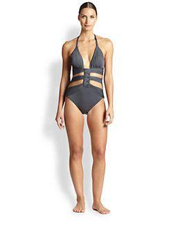 Gottex Swim - Cutout Halter Swimsuit