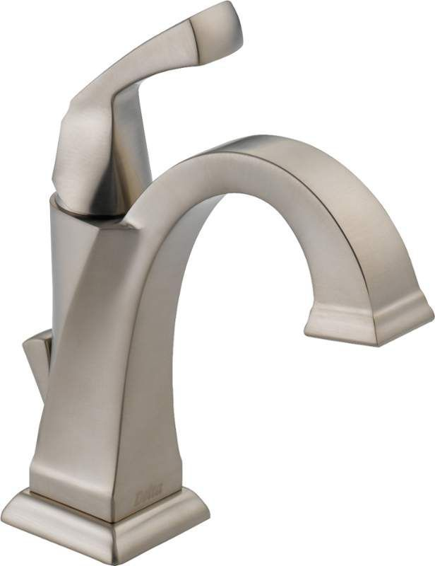 Delta 551-RB-DST Venetian Bronze Dryden Single Hole Bathroom Faucet with Pop-Up Drain Assembly and Optional Base Plate - Includes Lifetime Warranty - FaucetDirect.com