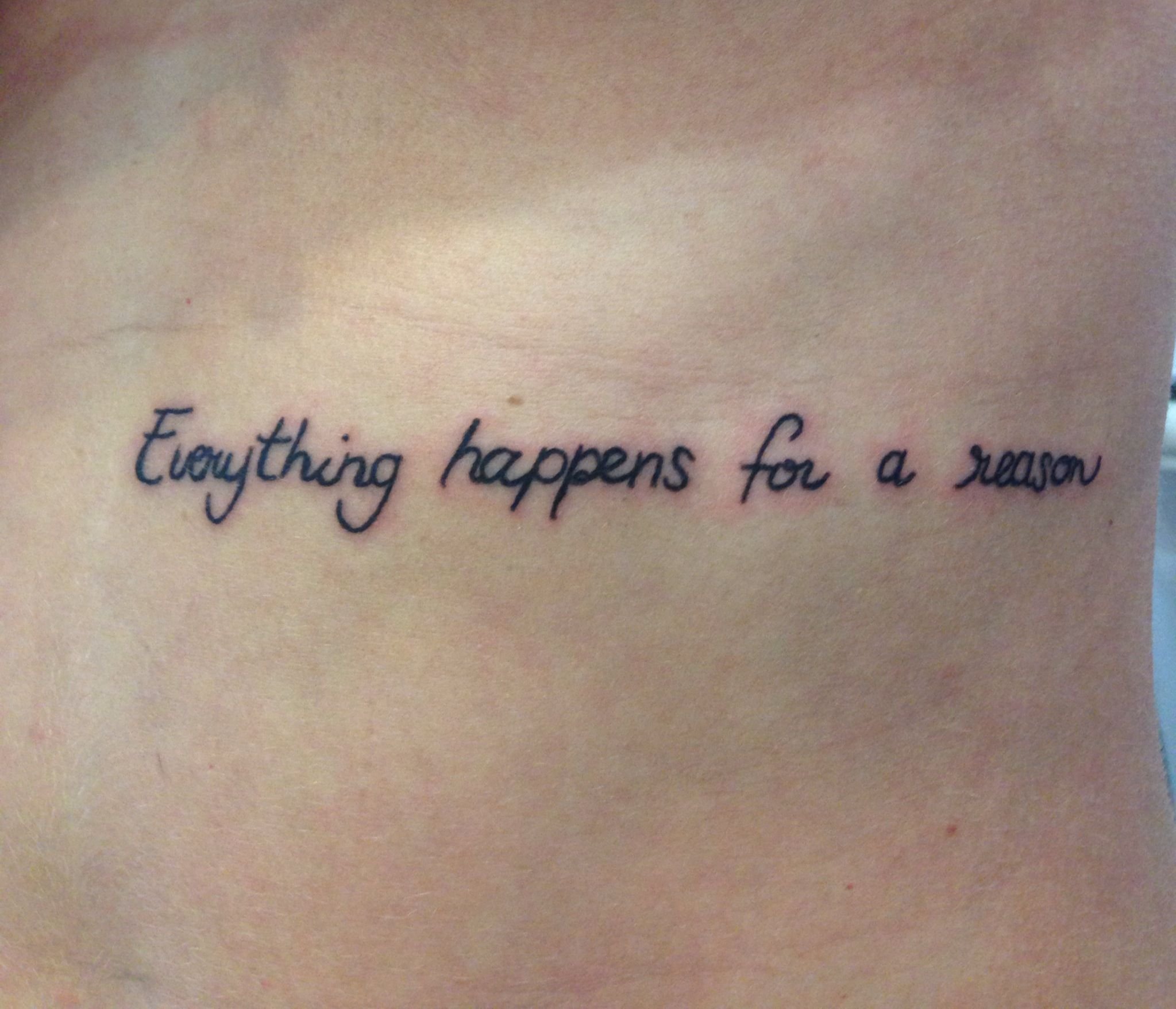 #ehfar #tattoo Everything Happens For A Reason #Quote