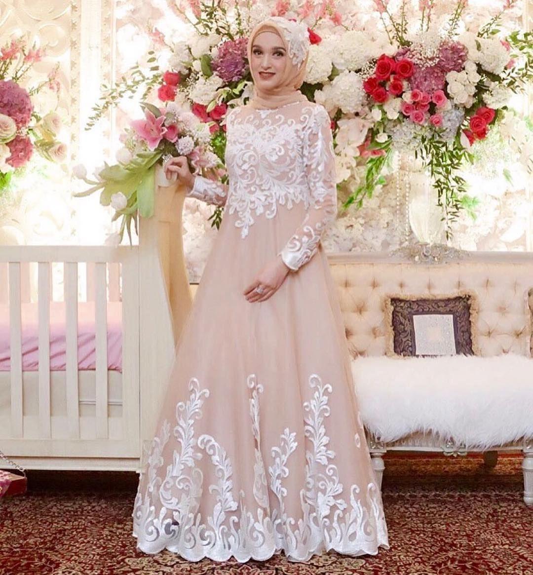 Baju Pesta Kebaya Ibu Hamil  Gaun pengantin sederhana, Pesta