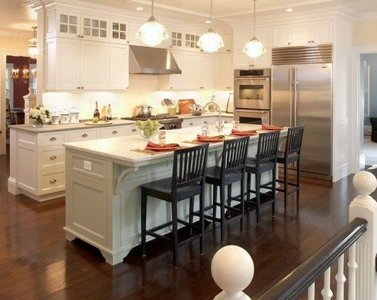 Image result for narrow kitchens with wrap around islands for 10x10 dining room ideas
