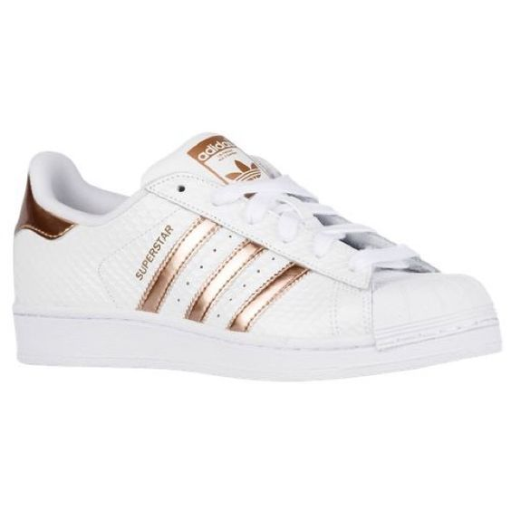 Homme/Femme Adidas Originals Superstar Foundation Chaussures - Blanche/Rose adidas superstar rose gold France