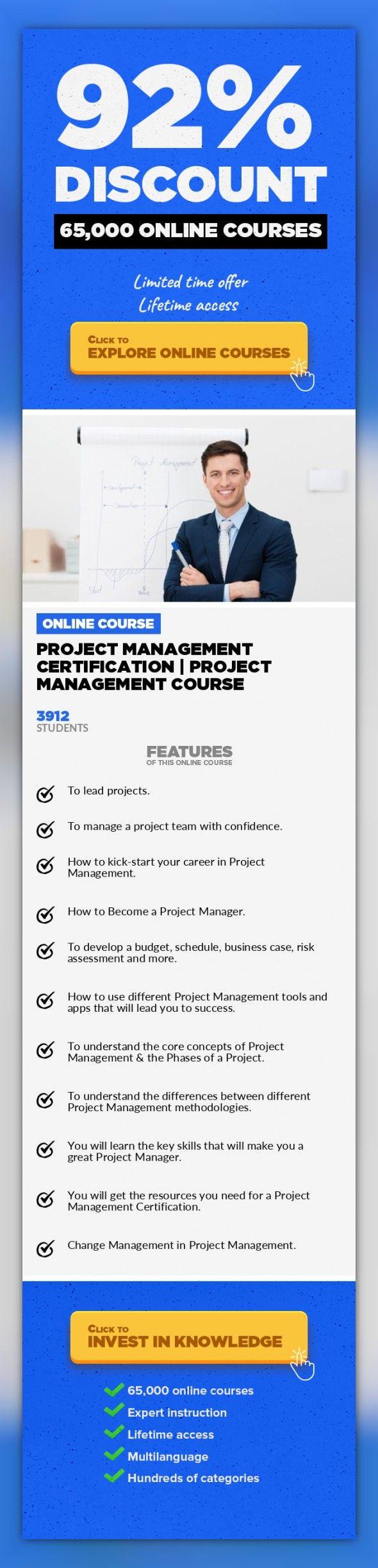 Project Management Certification Project Management Course Project