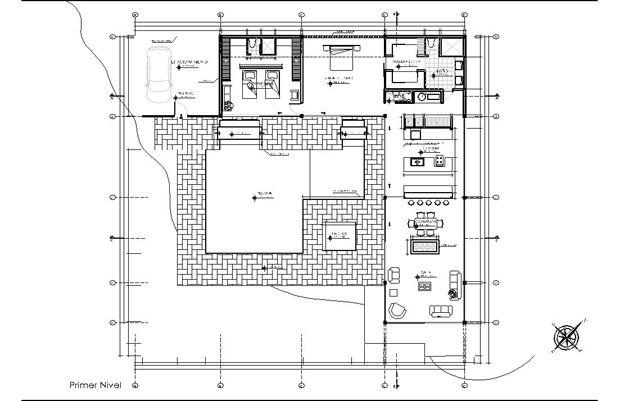 Study House 22 Pierre Koenig Model Planta