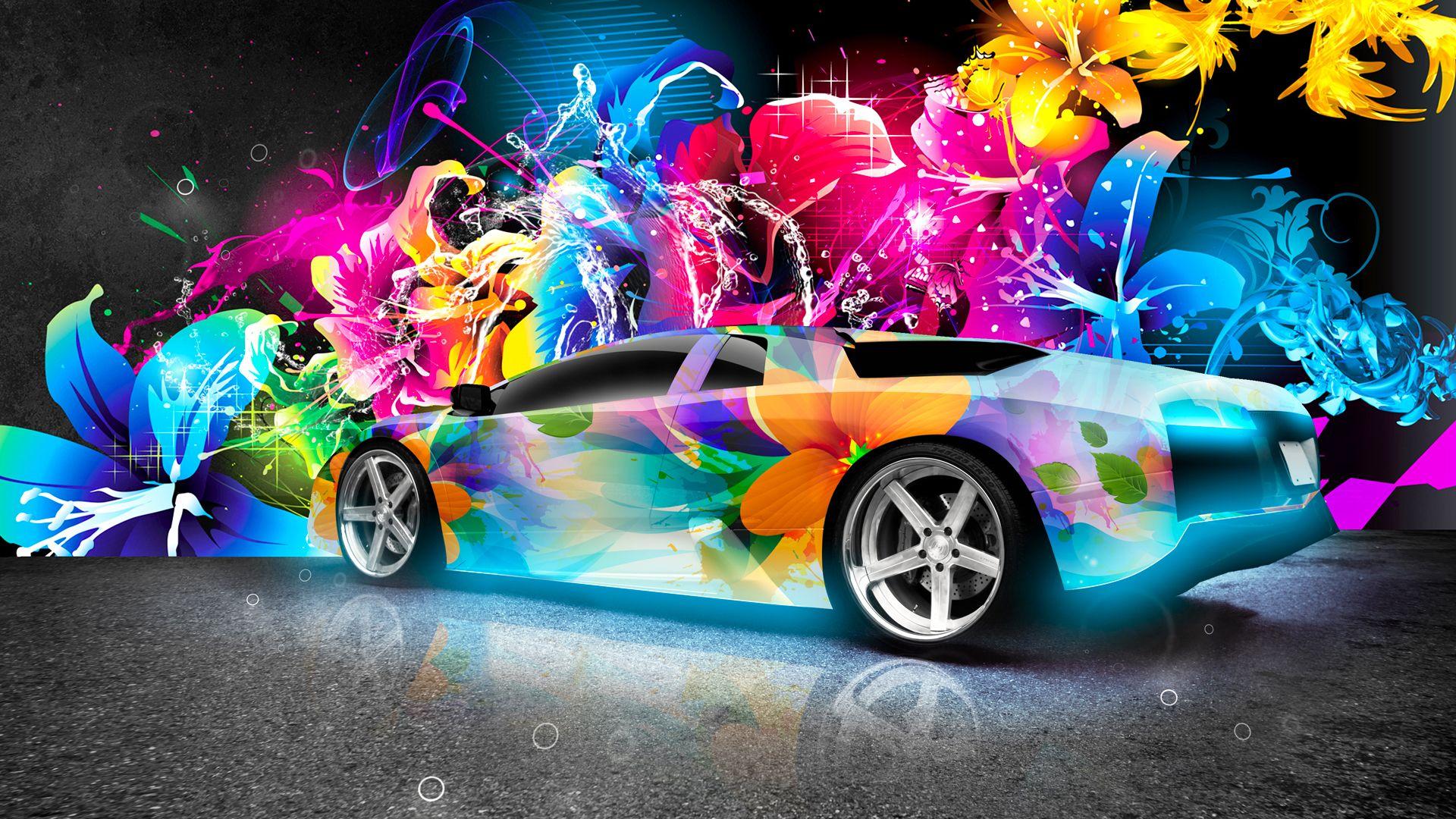 lamborghini murcielago abstract car wallpaper