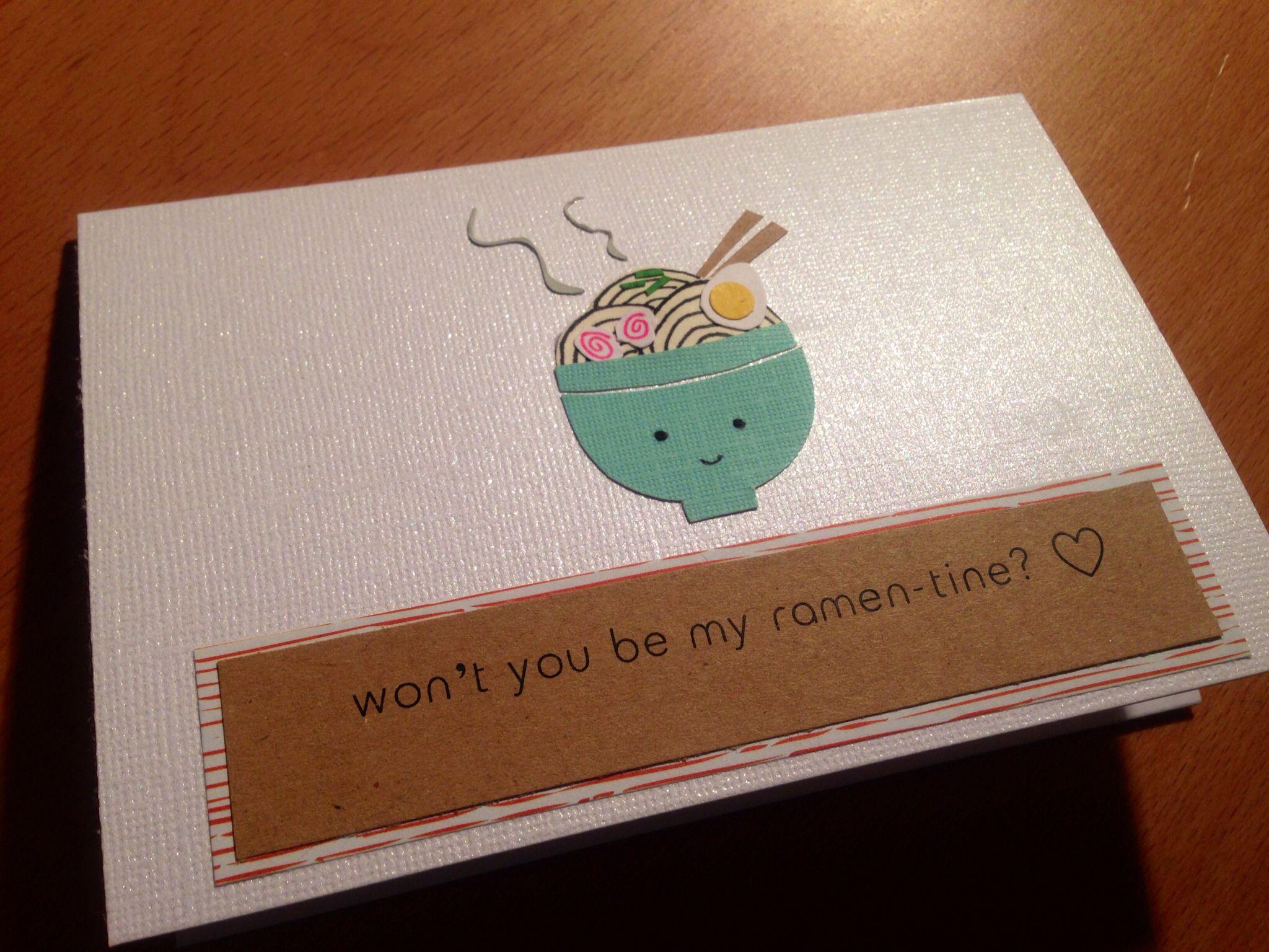 Valentine S Day Card For A Ramen Lover Valentines Cards Card Design Valentines