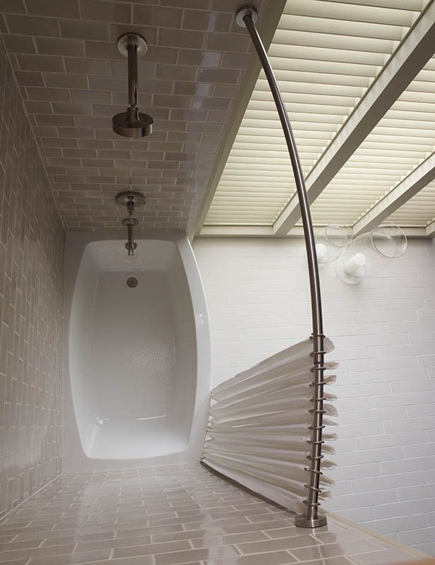 Kohler K-9349-BS Brushed Stainless Expanse™ Curved Shower Rod with ...