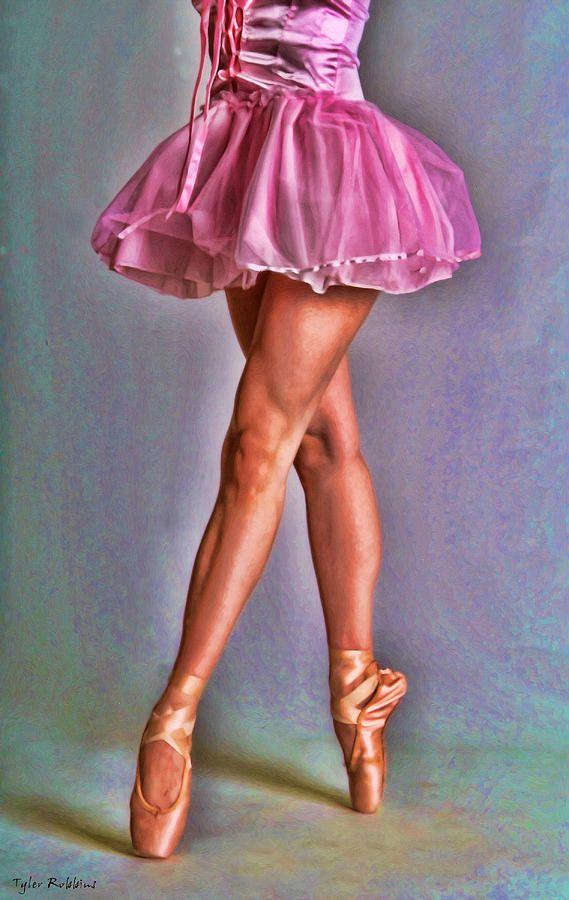 Dancers Legs Painting by Tyler Robbins ~ ballet