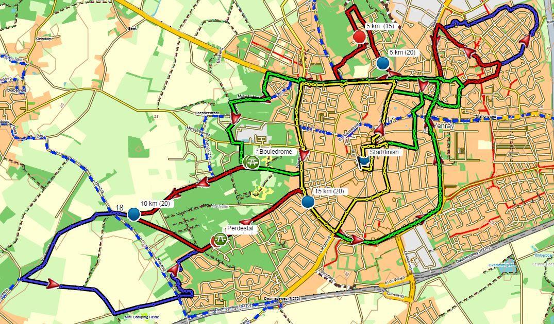 Hoe loopt het Parcours   Venrayse Singelloop