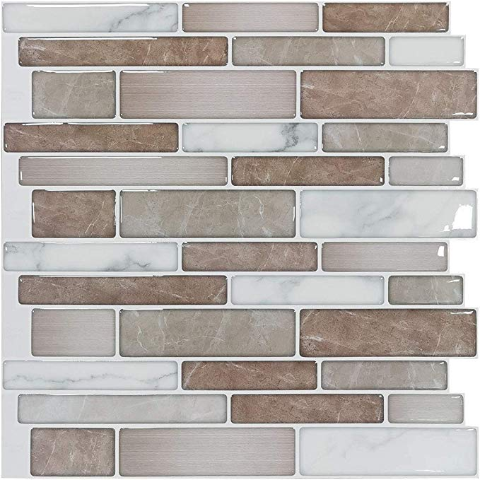 Art3d 10 Sheet Premium Stick On Kitchen Backsplash Tiles 12 X12 Peel And Stick Self Adhesive Bathr In 2020 Kitchen Wall Tiles Modern Tile Backsplash Vinyl Backsplash