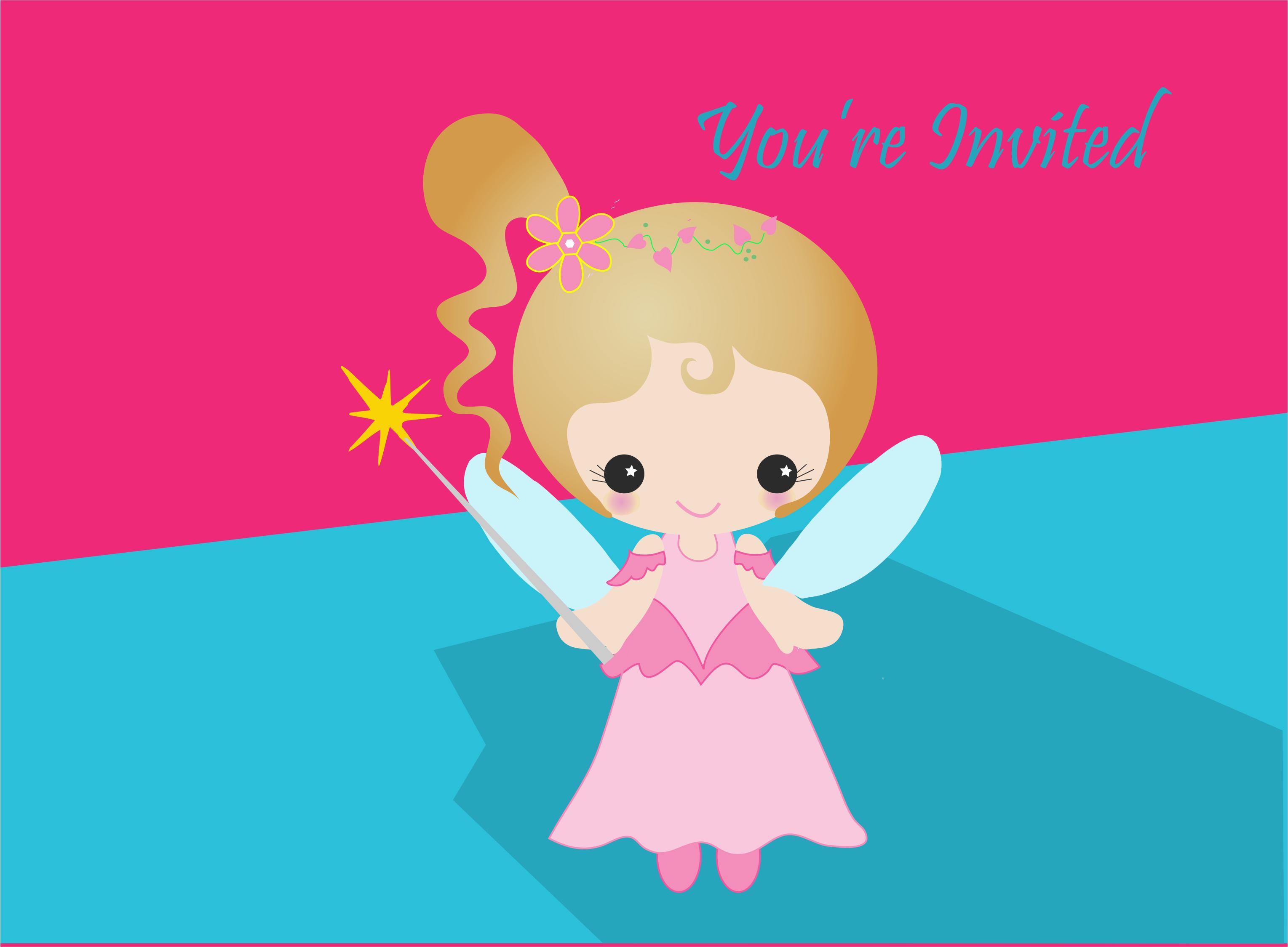 Free Fairy Birthday Invites http://www.kidscanhavefun.com/party ...