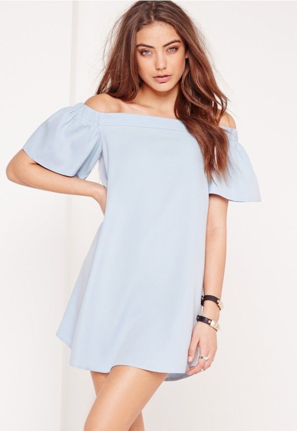 73dd2694cbb Bardot Shift Dress Blue - Missguided
